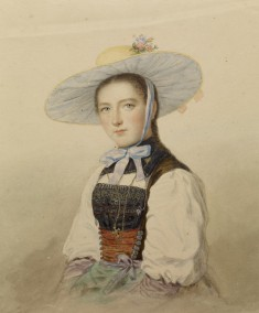 Girl in a Southern German Folk Costume
