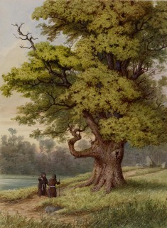 Forest Scene with Two Monks