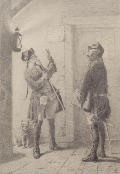 Soldier and Officer Reading