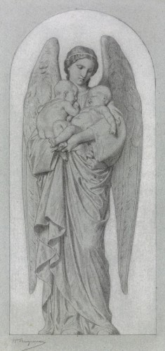 Angel Holding Two Infants