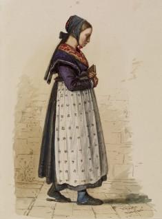 German Peasant Girl with Prayer Book