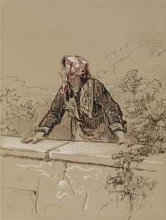 Peasant Woman Leaning on Wall