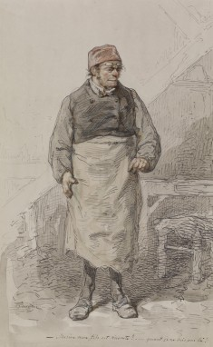 Man in Apron and Cap