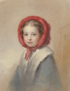 Little Girl in a Red Bonnet