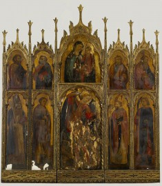 Center Panel of Madonna and Child with St. Michael and Other Saints