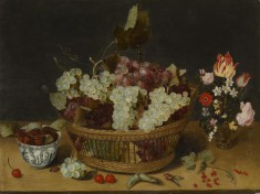 Still Life with Chinese Bowl and Vase of Flowers