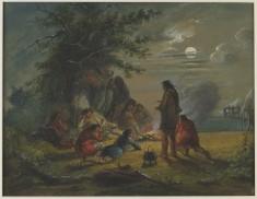 Moonlight - Camp Scene