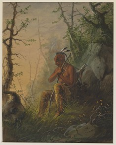 Sioux Indian at a Grave