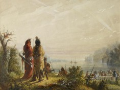Indians Threatening to Attack Fur Boats