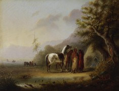 Sioux Indians in the Mountains