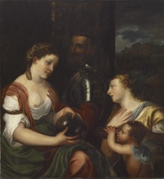 "Copy of Titian's ""Allegory of Alfonso d'Avalos, Marchese del Vasto"""