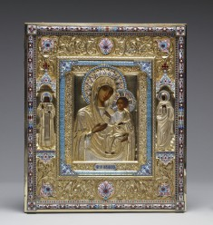 "Virgin and Child (""The Virgin of Iviron"") with Saints Demetrius and Hannah"