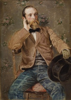 Self-Portrait with Flowered Wallpaper