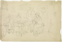 The Card Players (recto) / Classical Scene (verso)