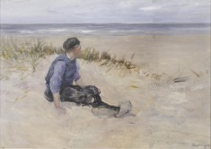 Figure on Beach, Holland