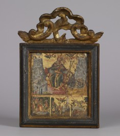 Saint Catherine of Alexandria with Three Scenes from Her Life