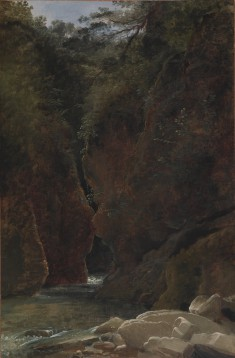 View of a Gorge in Italy