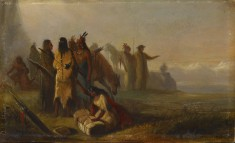 Scene of Trappers and Indians