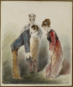 Man Bowing to a Woman