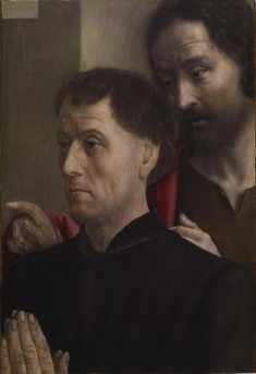 Portrait of a Man at Prayer with Saint John the Baptist