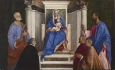 Madonna and Child with Saints Peter and Mark and Three Venetian Procurators