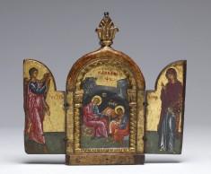 Saint John the Evangelist Dictating to Prochorus; the Annunciation