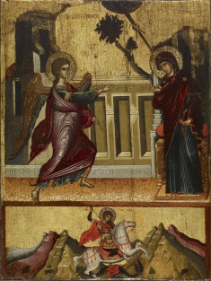 Annunciation, Saint George Killing the Dragon