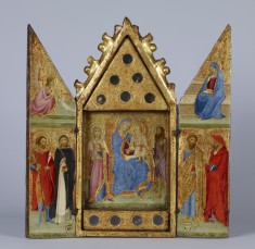 Reliquary with Madonna and Child with Saints