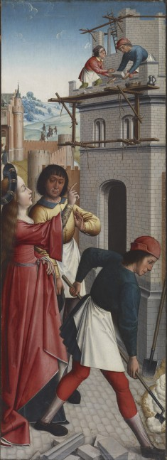 St. Barbara Directing the Construction of a Third Window in Her Tower