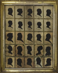 25 Silhouettes of Bartlett Family