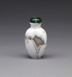 """Fortification Agate"" Snuff Bottle"