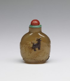 Snuff Bottle with Goats