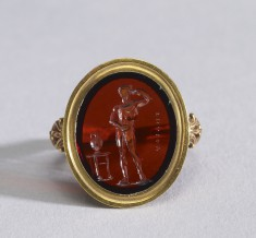 Intaglio with an Athlete Set in a Ring
