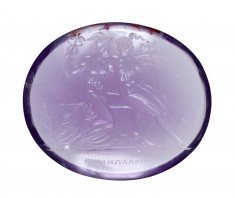 Amethyst Intaglio of Hermes and Herse