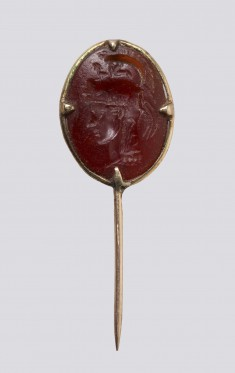Intaglio with Helmeted Head of Athena