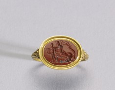 Intaglio with Achilles and Cheiron Set in a Ring