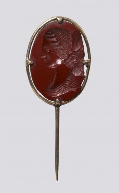 Intaglio with a Bust of a Woman Set in a Pin