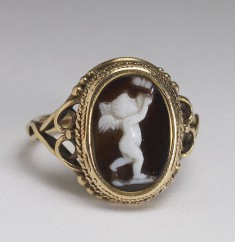 Ring with Cupid Chasing a Butterfly