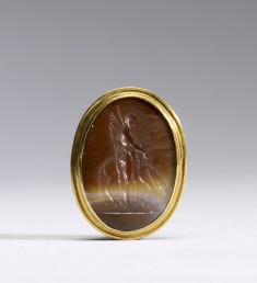 Intaglio with Bellerophon and Pegasus Set in a Mount