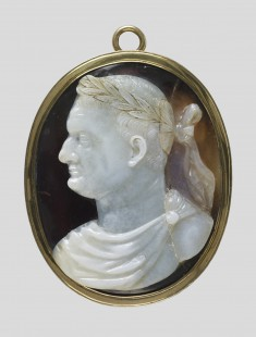 """Antique"" Cameo with Portrait of the Roman Emperor Vespasian"
