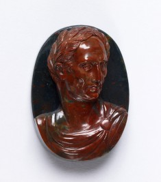 """Antique"" Cameo with the Bust of Julius Caesar"