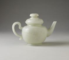 Teapot with Lid: Five bats amidst scudding clouds