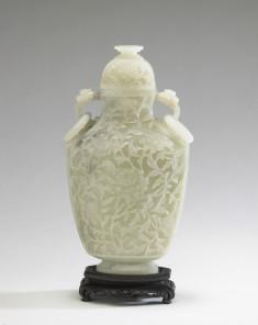 Lidded Vase with Floral Designs
