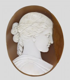 "Cameo after William Henry Rinehart's Sculpture ""The Woman of Samaria"""