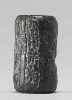 Cylinder Seal with a  Presentation Scene and an Inscription