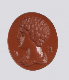 Intaglio with Profile Bust of a Boy and Greek Letters
