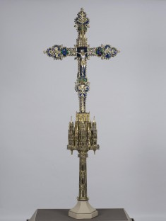 Processional Cross with Crucified Christ and God the Father