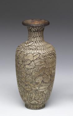 Enamel Vase Depicitng a Stage of Cloisonné Enamelling Process (2 of 8)