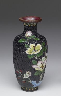 Enamel Vase Depicting a Stage of Cloisonné Enamelling Process (3 of 8)