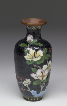 Enamel Vase Depicting a Stage of Cloisonné Enamelling Process (4 of 8)